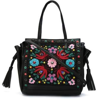Isla Maxi embroidered shoulder bag