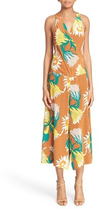 Tracy Reese Floral Print Crop Silk Jumpsuit $398 thestylecure.com
