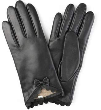 Brinley Co. Womens Wool Lined Fashion Leather Sheepskin Driving Gloves