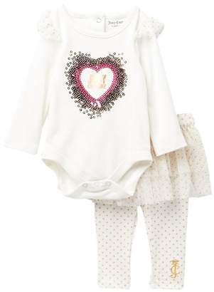 Juicy Couture Heart Bodysuit & Skeggings Set (Baby Girls)