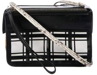 Proenza Schouler Snakeskin-Trimmed Leather Crossbody Bag