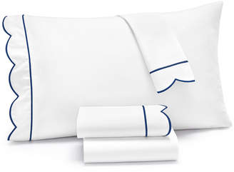 Martha Stewart Collection Signature Scallop 3-Pc. Twin Sheet Set, 400 Thread Count 100% Cotton Percale