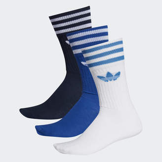 adidas Solid Crew Sock 3 Pairs