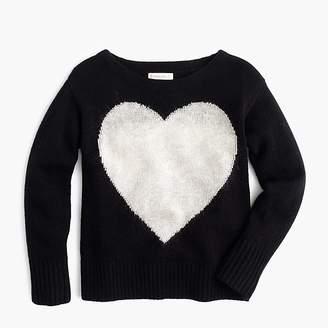 J.Crew Girls' wool heart popover sweater