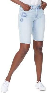 NYDJ Briella Patch Denim Shorts