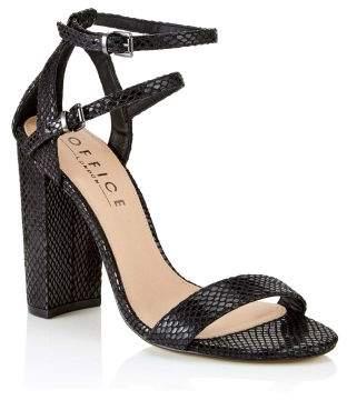 Next Womens Office Strappy Block Heel Sandals