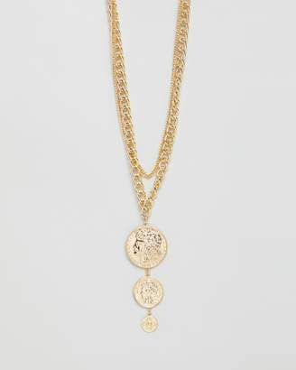 Missguided Graduated Coin Necklace