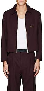Second / Layer Men's Embroidered Stretch-Wool Jacket-Wine Size M