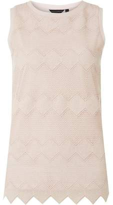 Dorothy Perkins Womens Pink Chevron Lace Shell Top