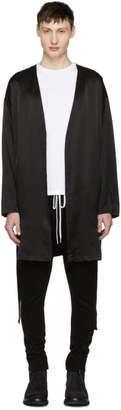 Diet Butcher Slim Skin Black No Collar Gown Cardigan
