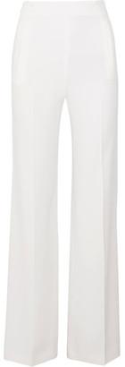 Roland Mouret - Axon Stretch-crepe Wide-leg Pants - White $1,055 thestylecure.com