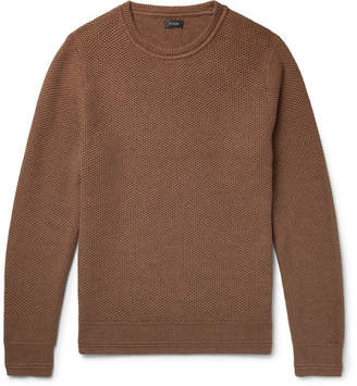 J.Crew Honeycomb-Knit Cotton Sweater