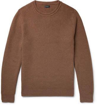 J.Crew Honeycomb-Knit Cotton Sweater - Brown