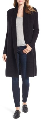 Women's Halogen Long Ribbed Cashmere Cardigan $299 thestylecure.com