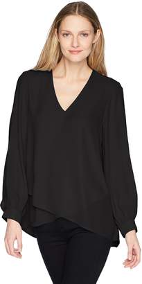 Karen Kane Women's Split Sleeve Crossover Top, M