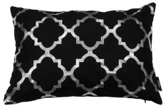 Kensie 'Holly' Metallic Lattice Pillow
