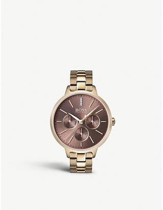 BOSS 1502422 Symphony gold-plated quartz watch