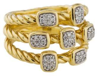David Yurman 18K Diamond Confetti Ring