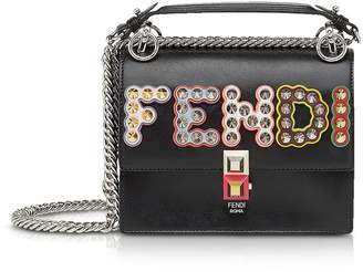 Fendi Kan I Mcl Leather Shoulder Bag
