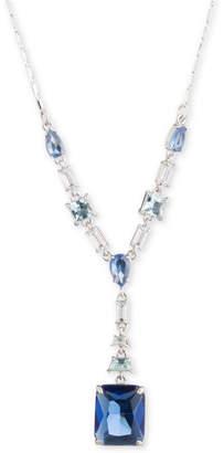 "Carolee Silver-Tone Crystal 18"" Lariat Necklace"