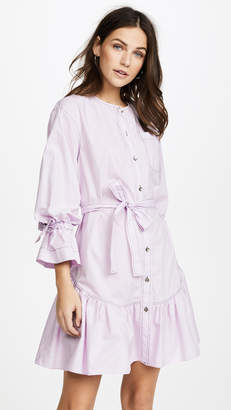 Rebecca Taylor Long Sleeve Poplin Dress