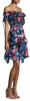 Tanya Taylor Megan Floral Off-The-Shoulder Dress
