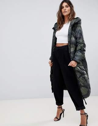 G Star G-Star Whistler long padded camoflage coat