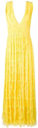 Just Cavalli frill maxi dress