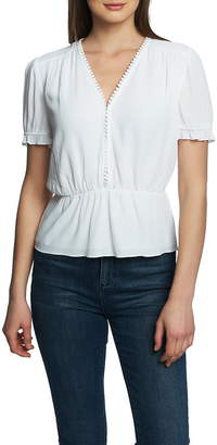 1 STATE 1.STATE Circle Trim Peplum Blouse