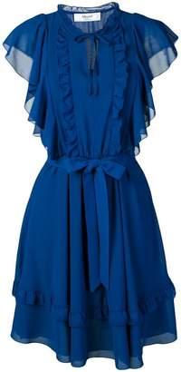 Blugirl blue ruffled dress