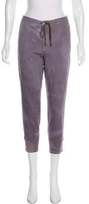 Current/Elliott White Stretch Denim Mid-Rise Jeans