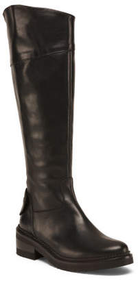 Made In Italy Tall Leather Moto Boots
