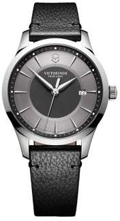 Victorinox Alliance Stainless Steel Scratch-Resistant Leather-Strap Watch