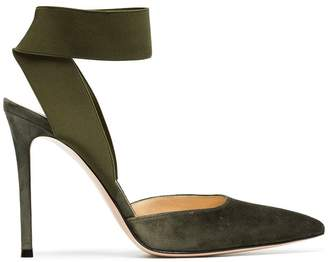 Gianvito Rossi Green Rhia 105 suede pumps