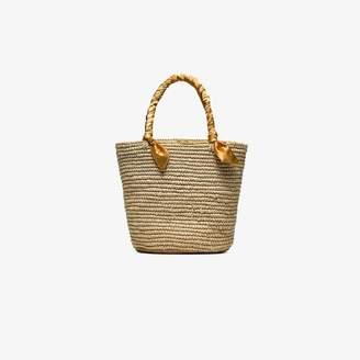 Sensi Studio beige medium woven basket bag