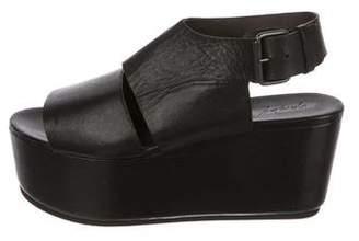 Marsèll Leather Flatform Sandals