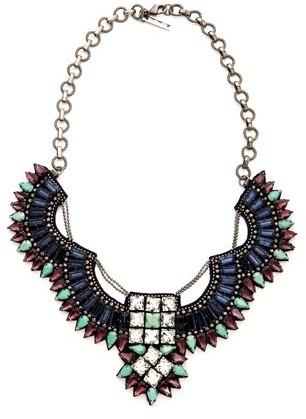 Deepa Gurnani Crystal and Stone Statement Necklace