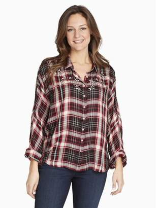 Gloria Vanderbilt Women's Yvette Plaid Shirt