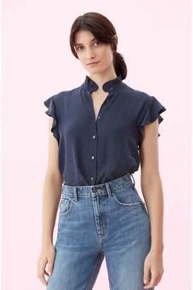 Rebecca Taylor Heart Jacquard Silk Top