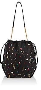 Saint Laurent Women's Teddy Sac Leather Bucket Bag - Black