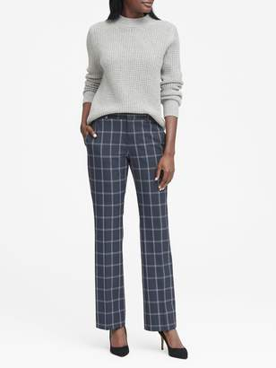 Banana Republic Logan Trouser-Fit Machine-Washable Windowpane Pant