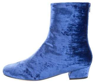 Dries Van Noten Velvet Ankle Boots w/ Tags Velvet Ankle Boots w/ Tags