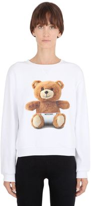 Moschino Bear Cotton Sweatshirt $170 thestylecure.com