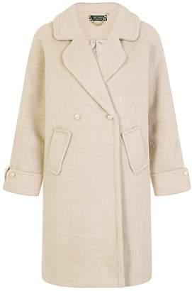 Dorothy Perkins Womens *Girls On Film Oatmeal Coat