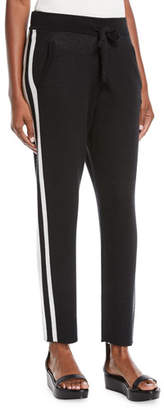 ATM Anthony Thomas Melillo Cashmere-Blend Jogger Sweatpants w/ Racer Stripes