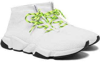 b1dace94e063 at MR PORTER · Balenciaga Speed Sock Stretch-Knit Sneakers