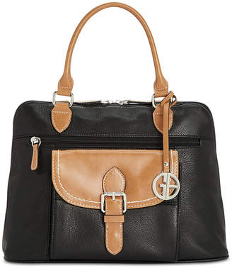 Giani Bernini Pebble Leather Medium Satchel, Created for Macy's