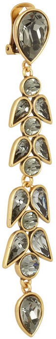 Oscar de la Renta Wisteria gold-plated crystal clip earrings