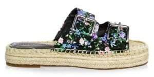 Rebecca Minkoff Floral Silk Espadrille Sandals