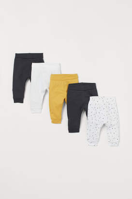 H&M 5-pack jersey trousers